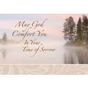 Cartes de souhaits, « Que Dieu vous réconforte en ce temps de deuil », 18/paquet