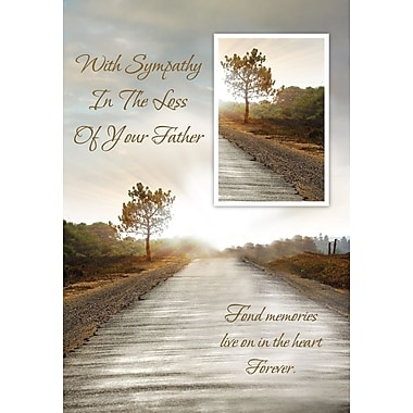 Greeting Cards, With Sympathy In The Loss Of Your Father, 18/Pack