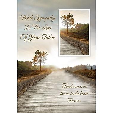 Cartes de souhaits, condoléances pour la perte de votre père, 18/paquet