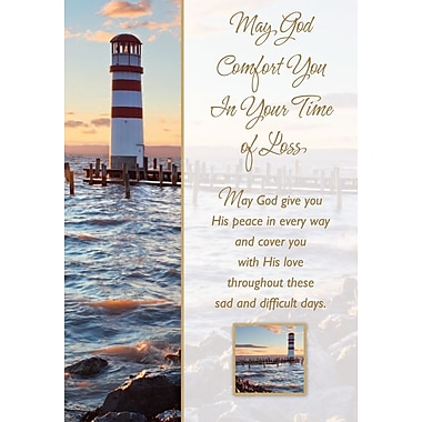 Greeting Cards, May God Comfort You In Your Time of Loss, 18/Pack