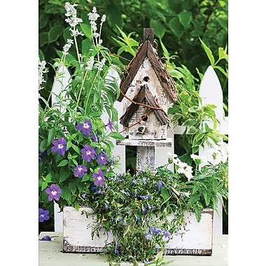 Greeting Cards, Blank Inside, Bird House & Garden, 18/Pack