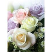 Cartes de souhaits, intérieur vierge, roses assorties, paquet de 18