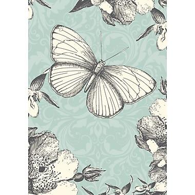 Cartes de souhaits, intérieur vierge, papillons, paquet de 18