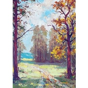 Greeting Cards, Blank Inside, Forest Oil Painting, 18/Pack