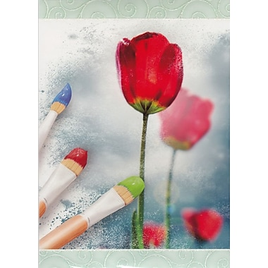 Greeting Cards, Blank Inside, Tulip, 18/Pack