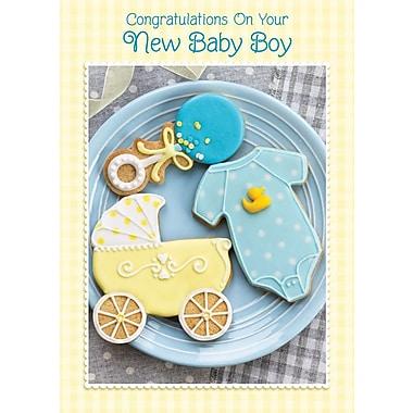 A-Line – Cartes de souhaits, « Congratulations On Your New Baby Boy », 18/paquet