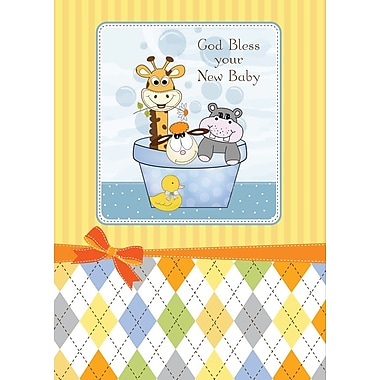 Greeting Cards, God Bless Your New Baby, 18/Pack