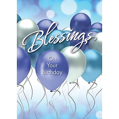 A-Line – Cartes de souhaits, « Blessings On Your Birthday », ballons, 18/paquet