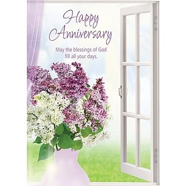 Cartes de souhaits, « Joyeux anniversaire », fleurs de lavande, 18/paquet