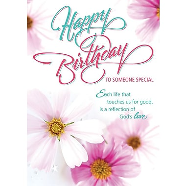A-Line – Cartes de souhaits, « Happy Birthday », rose, 18/paquet