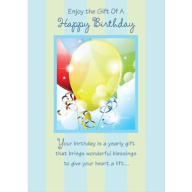 Greeting Cards, Enjoy the Gift Of A Happy Birthday, 18/Pack