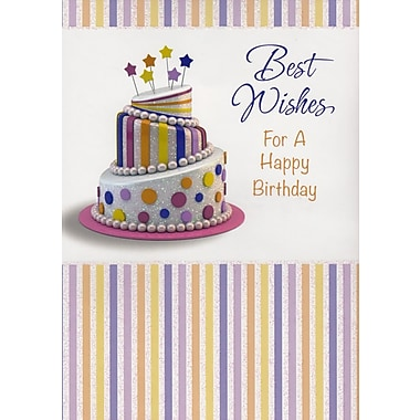 A-Line – Cartes de souhaits, « Best Wishes For A Happy Birthday », 18/paquet