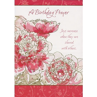 Greeting Cards, A Birthday Prayer, 18/Pack