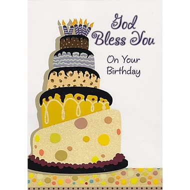 A-Line – Cartes de souhaits, « God Bless You On Your Birthday », 18/paquet