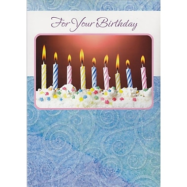 A-Line – Cartes de souhaits, « For Your Birthday », bougies, 18/paquet