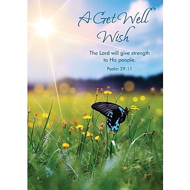 Greeting Cards, A Get Well Wish/Prayer, 18/Pack