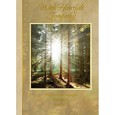 Greeting Cards, With Heartfelt Sympathy, 18/Pack