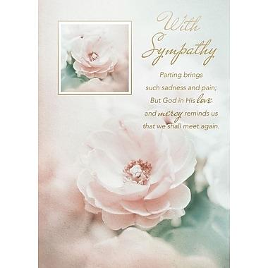Cartes de souhaits, « Avec compassion », religieux, paquet de 18