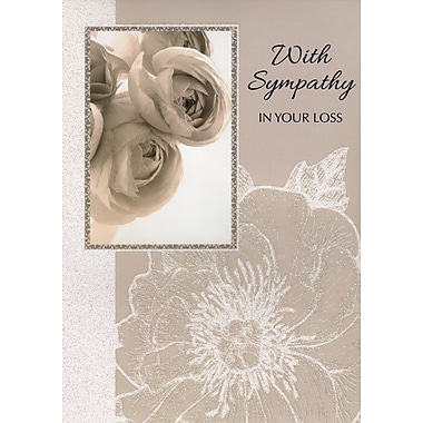 Greeting Cards, With Sympathy In Your Loss, 18/Pack