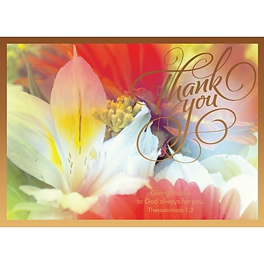 Cartes de souhaits, « Merci », religieux, paquet de 18