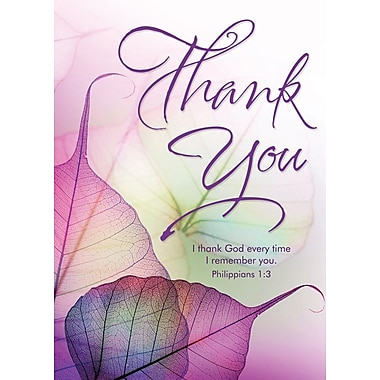 Greeting Cards, Thank You, Purple, 18/Pack