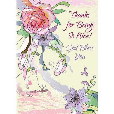 Greeting Cards, Thanks for Being so Nice! God Bless You, 18/Pack