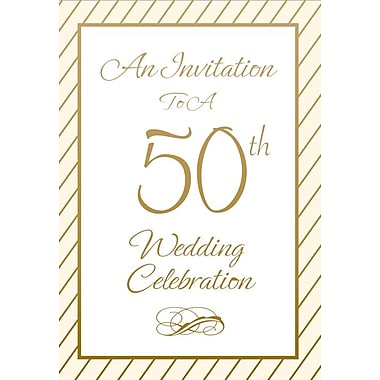 Cartes d'invitation, 50th Anniversary Celebration, 12/paquet