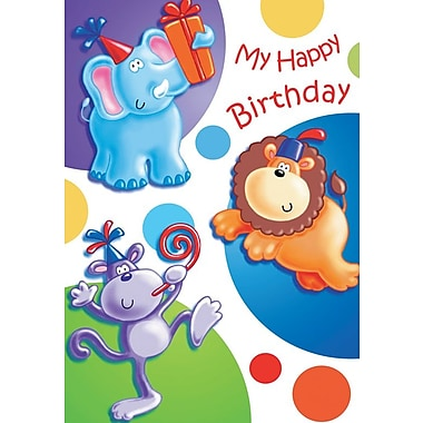 Cartes d'invitation, Happy Birthday, 12/paquet
