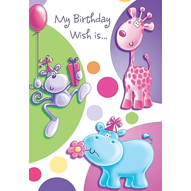 Cartes d'invitation, My Birthday Wish Is…, 12/paquet