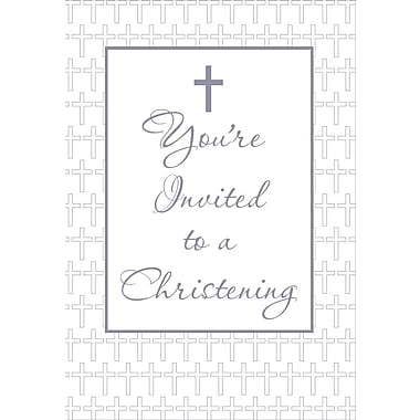 Invitation Cards, You Are Invited to a Christening, 48 Notelet Cards