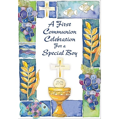 Invitation Cards, A First Communion Celebration For A Special Boy, 48 Notelet Cards