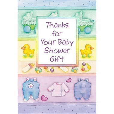 Cartes de remerciement, Thanks For Your Gift For Baby Shower Gift, 12/paquet