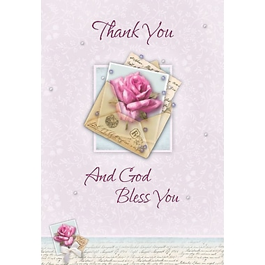 Cartes de remerciement, Thank You And God Bless You, 12/paquet