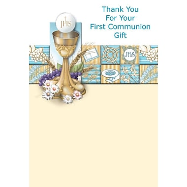 Thank You Cards, Thank You For Your First Communion Gift, 48 Notelet Cards