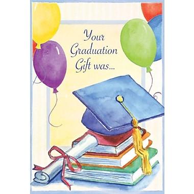Cartes de remerciement, Your Graduation Gift Was..., 12/paquet