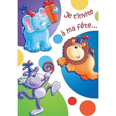 Invitation Cards, Je t'invite à ma fête..., 48 Notelet Cards