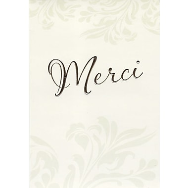 Thank You Cards, Merci, 48 Notelet Cards