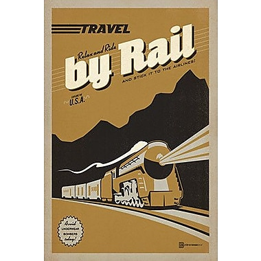 iCanvas 'Travel by Rail' by Anderson Design Group Vintage Advertisement on Wrapped Canvas
