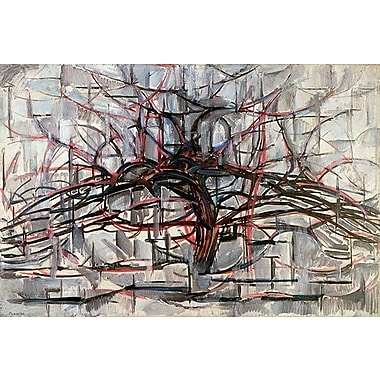 iCanvas ''Tree, 1911'' by Piet Mondrian Painting Print on Wrapped Canvas; 26'' H x 40'' W x 0.75'' D