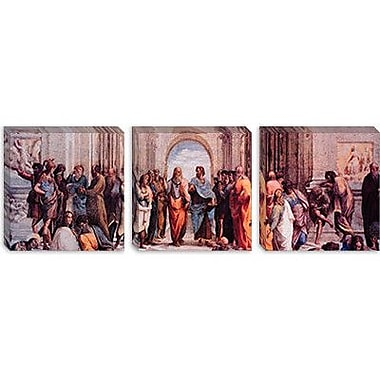 iCanvas 'School of Athens' (Panoramic) by Raphael Painting Print on Wrapped Canvas