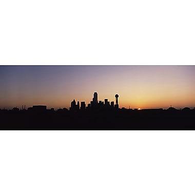 iCanvas Panoramic Sunrise Skyline Dallas, Texas Photographic Print on Wrapped Canvas