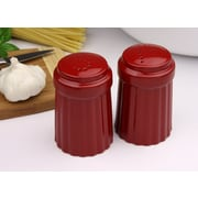 Omniware Simsbury Salt and Pepper Set; Red