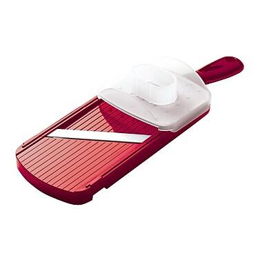 Kyocera Cutlery Cooks Tools Adjustable Slicer; Red