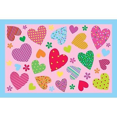 Fun Rugs Fun Time Hearts-Pink Kids Rug; 1'7'' x 2'5''