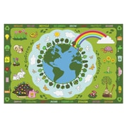 Fun Rugs Fun Time Go Green Kids Rug; 4'3'' x 6'6''