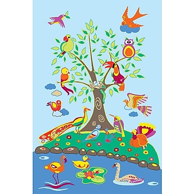 Fun Rugs Fun Time Birds of Paradise Kids Rug; 4'3'' x 6'6''