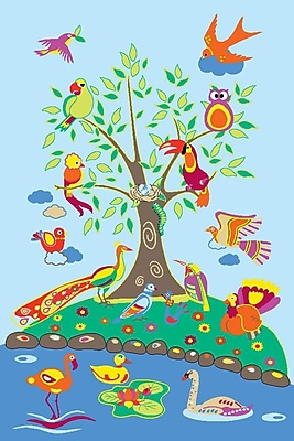 Fun Rugs Fun Time Birds of Paradise Kids Rug; 4'3'' x 6'6''
