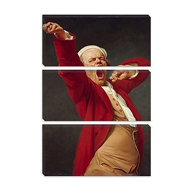 iCanvas 'Self-Portrait (Yawning)' by Joseph Ducreux Painting Print on Wrapped Canvas