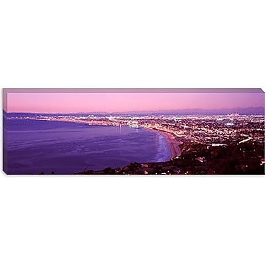 iCanvas Panoramic View of Los Angeles Downtown, California Photographic Print on Wrapped Canvas