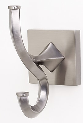 Alno Contemporary II Universal Wall Mounted Robe Hook; Satin Nickel